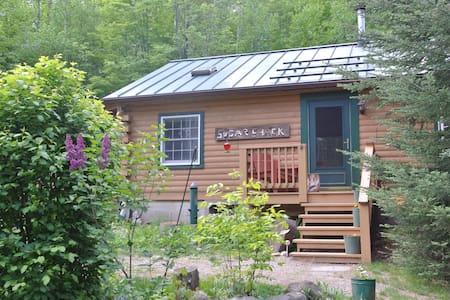 Modern Log Cabin 50 acres Gore Mt. - Casa