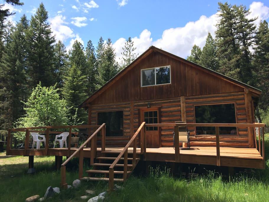 Missoula Montana Log Cabin 10 Acres