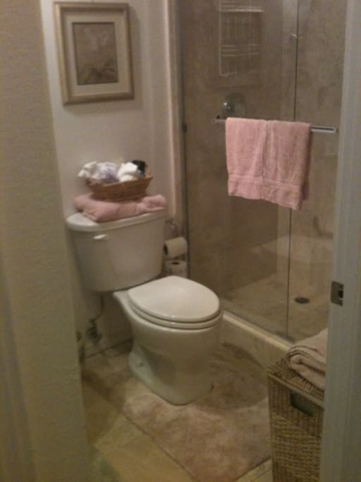 Private bath with GREAT shower and outstanding water pressure.