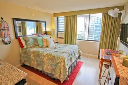 Renovated Waikiki Studio w/ View!