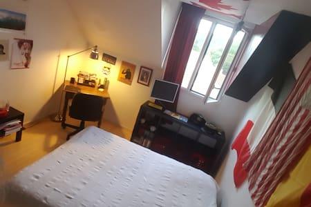 Chambre individuelle avec SdB dans grande maison - Saint-Rémy-lès-Chevreuse - Rumah