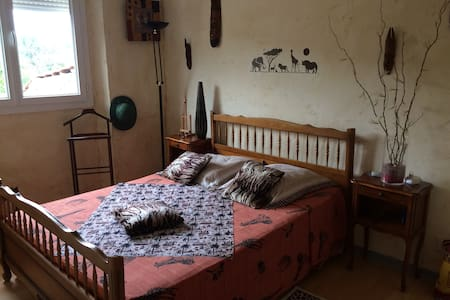 Chambre aux couleurs de l'afrrique - Mirepoix