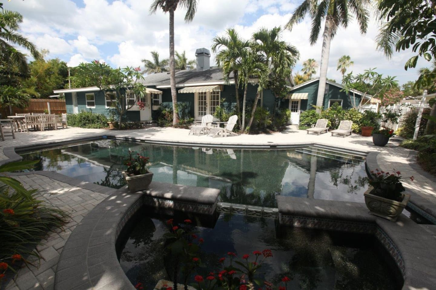 Spa, Pool and back of house