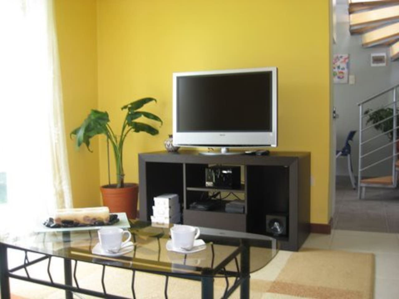 LCD TV in the living room