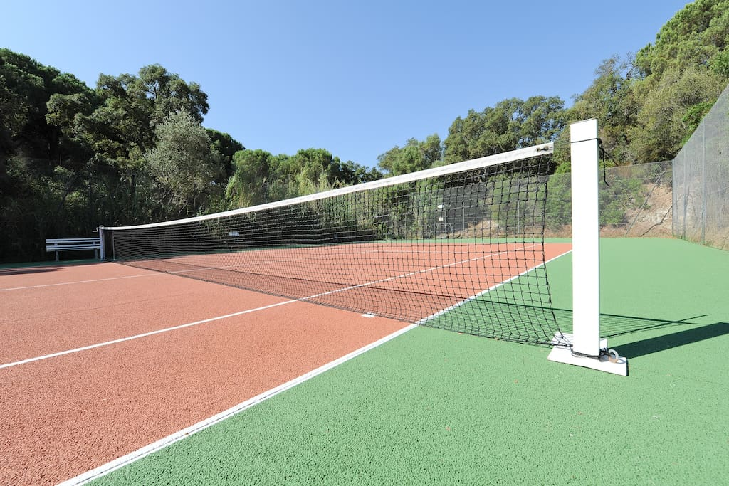 our private tennis in   the property