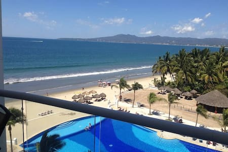 25 Minutes from downtown Puerto Vallarta, our 5TH FLOOR LUXURY VILLA MAGNA CONDOMINIUM overlooks one of the largest and best stretches of beach in Nuevo Vallarta. This 4 bedroom, 4 bathroom condominium is just a short 15 minute ride from the airport.