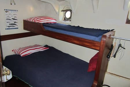 Your cabin on a steam tug