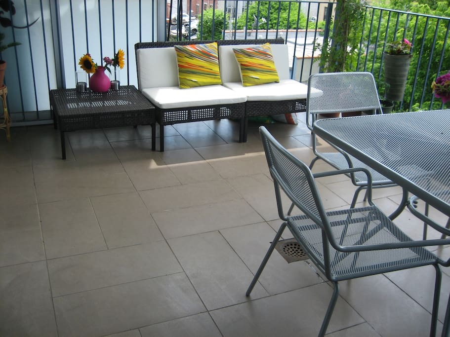 The private outdoor deck