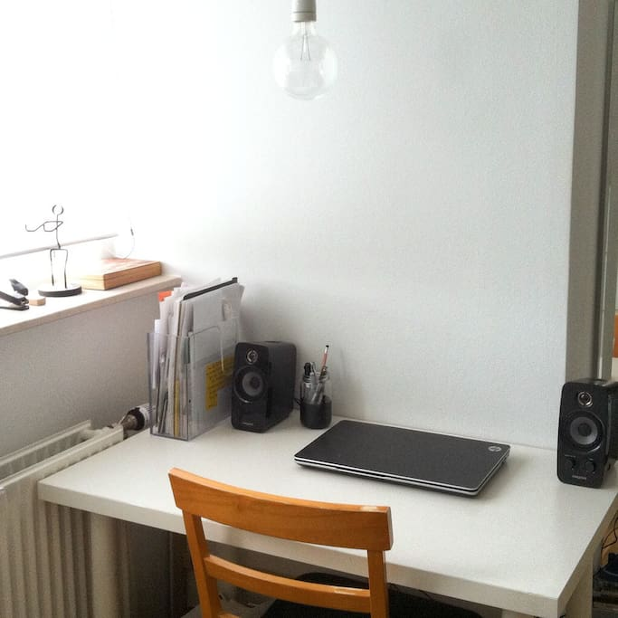 Space for working on your laptop etc. (Free wifi)