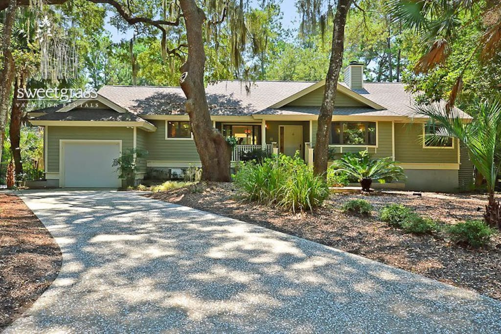 Ranch style home on large wooded lot