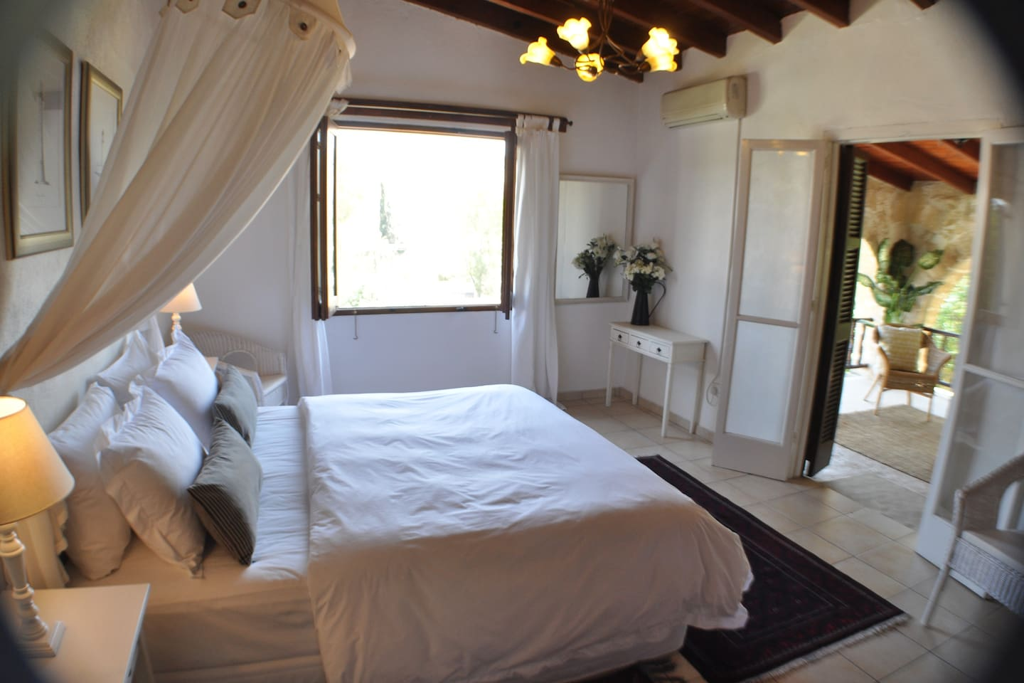 Double en suite rooms with king-size beds and delightful views.