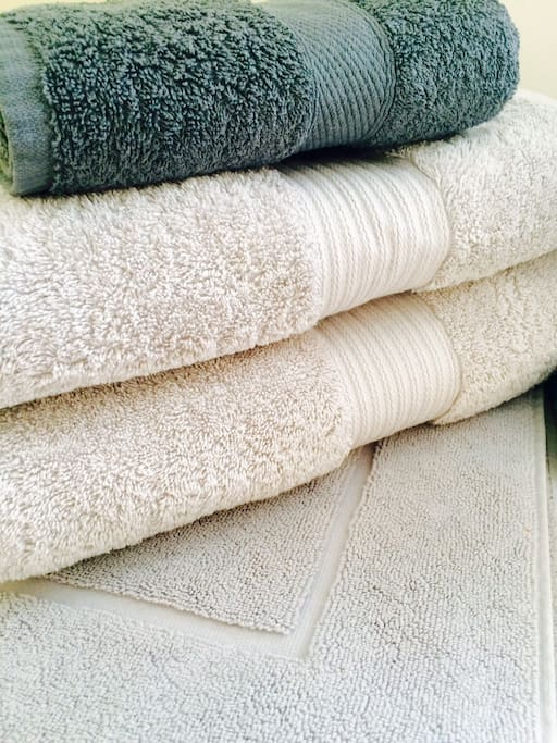 Luxury Egyptian cotton towels is a touch of 5-star hotel comfort