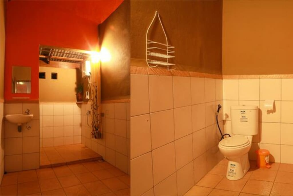 Big space for the bathroom.