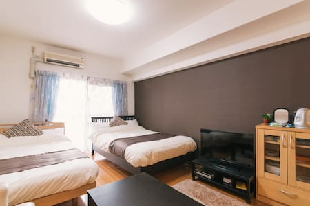 Welcome to Fukuoka! This, we will arrive at an 10-minute walk to the 4th floor of the room from Hakata Station. Room are spacious. Bath and toilet are divided separately. You can it to stay well comfortable.