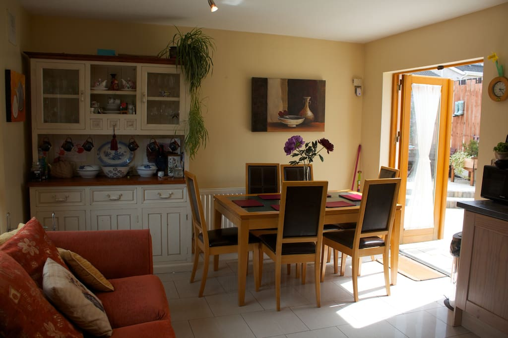 The Kitchen area, with access to the garden/patio area