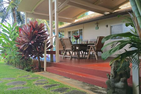 Beachfront Private, Clean & Country - Waimanalo - Hus
