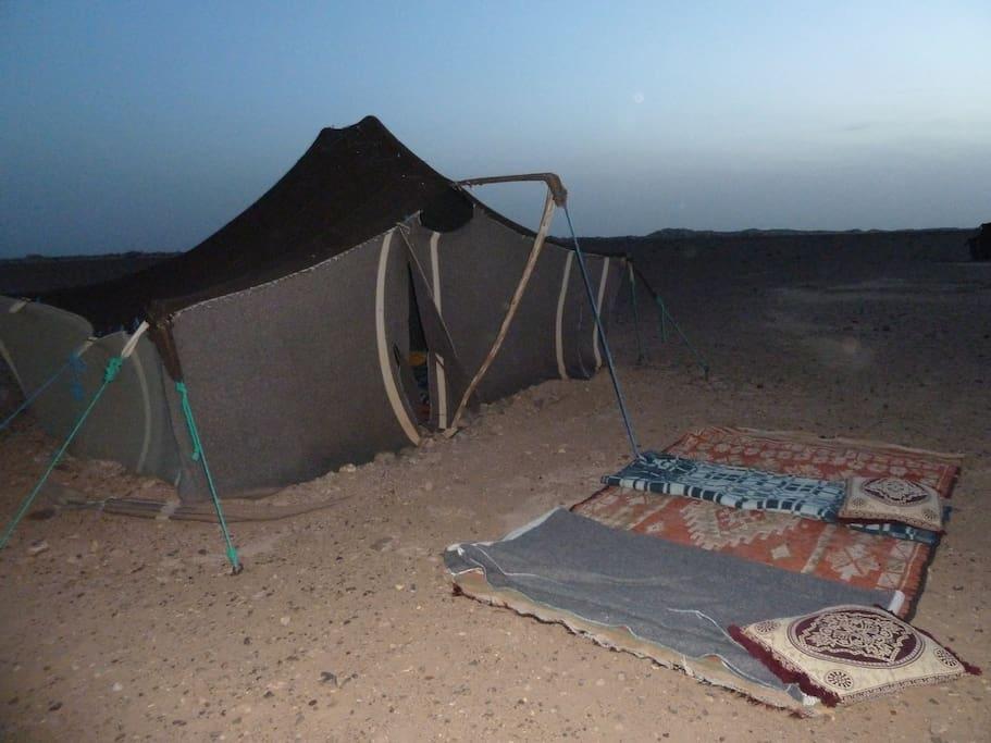 bivouac in Morocco Sahara desert