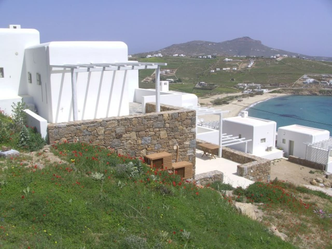 Beachfront studio in Mykonos Greece