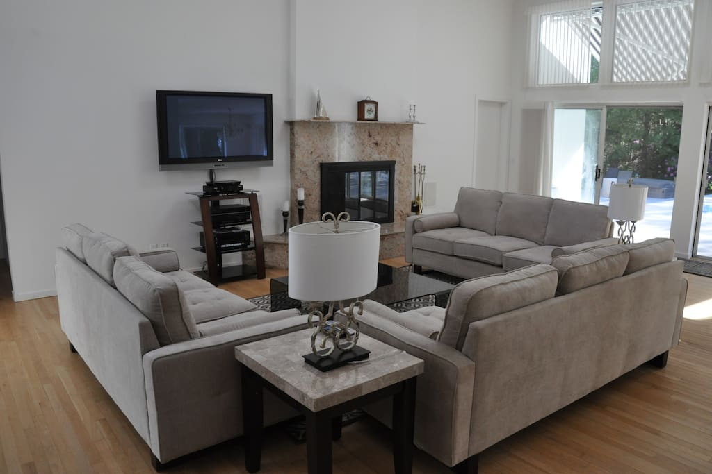 Large screen tv in main living areas and very bedroom.