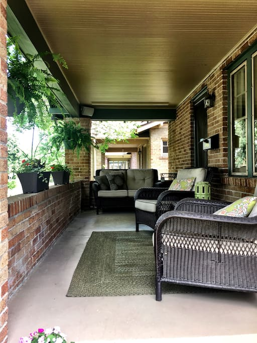Front Patio with Sonos speakers.