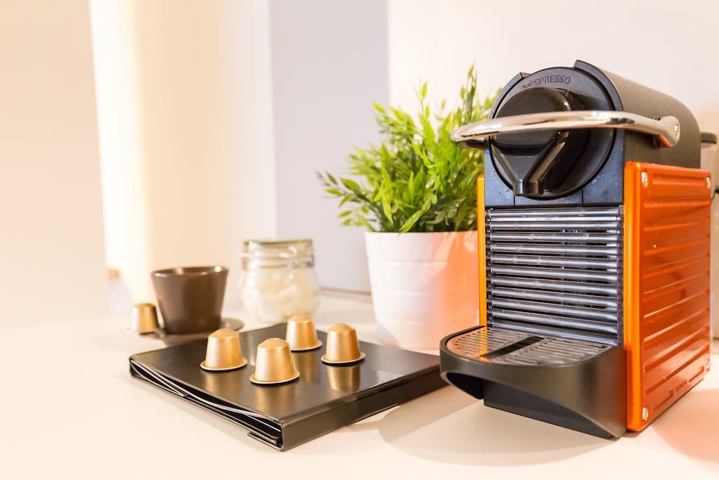Enjoy our complementary Nespresso coffee!
