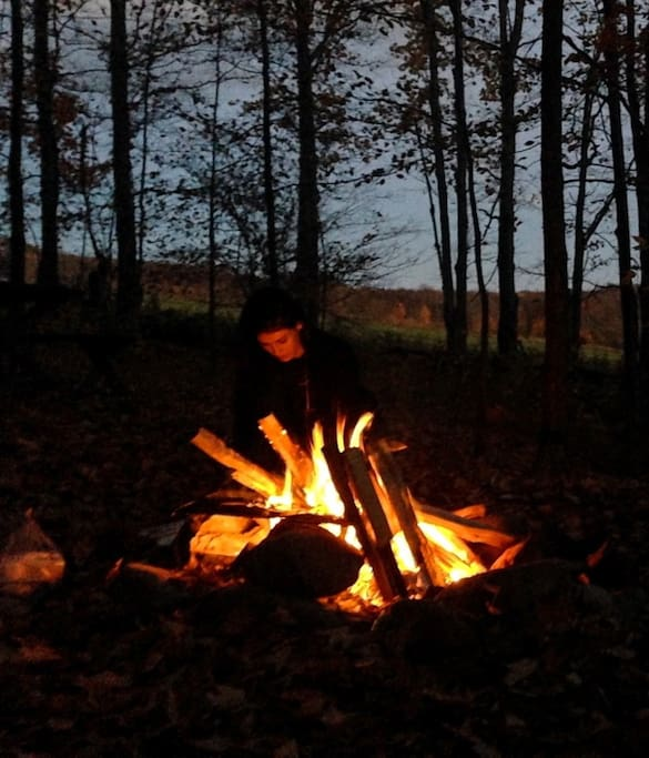 Outdoor cooking,  please bring 'approved' firewood to avoid threats from invasive insect species.  Some campfire wood available in forest.