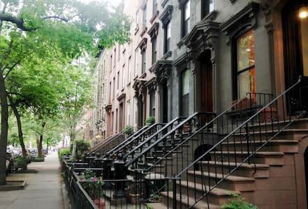 """Located in one of the safest, most picture-perfect neighborhoods, my happy home is the perfect base for your New York adventure.  FLEXIBLE CHECK IN/OUT.  LISTING IS FOR 1 ROOM in large 3 bed/1 bath apt.  Please review """"house manual"""" once you book"""