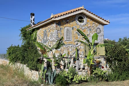 unique art house Fterionas in Skala - Skala - House