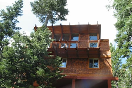 Mountain cabin is cozy & well maintained with dramatic views of Scott Peak and Alpine Meadows ski area from all rooms. Close to hiking trails in the Granite Chief Wilderness. Available summer and fall only. No ski lease or winter requests, please.