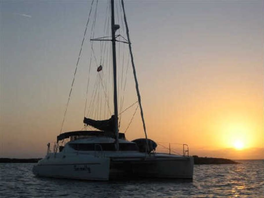 Sunsets are a great time to be aboard.