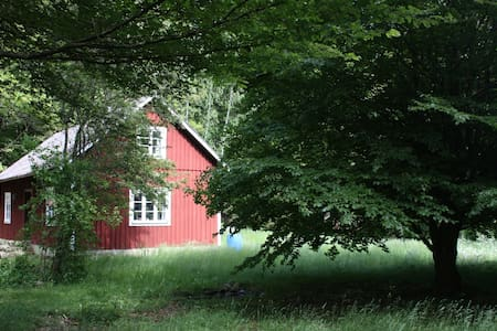 Secluded and idyllic wooden cabin - Färingtofta - Zomerhuis/Cottage