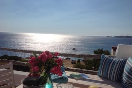 Room with roof terrace and sea view - Sant Josep de sa Talaia - Pousada