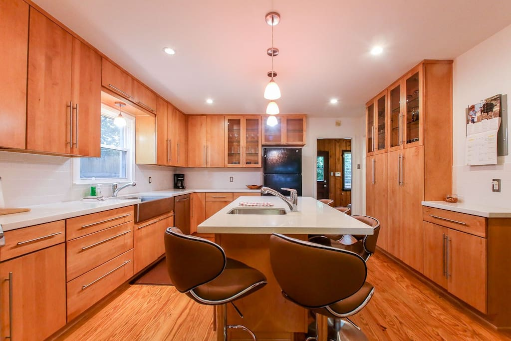 Large, updated kitchen, main house