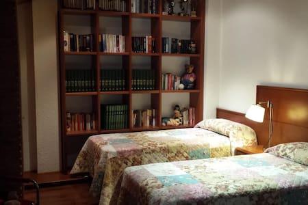 Amplia habitación con 2 camas de 90 cm. - Premià de Mar - Casa