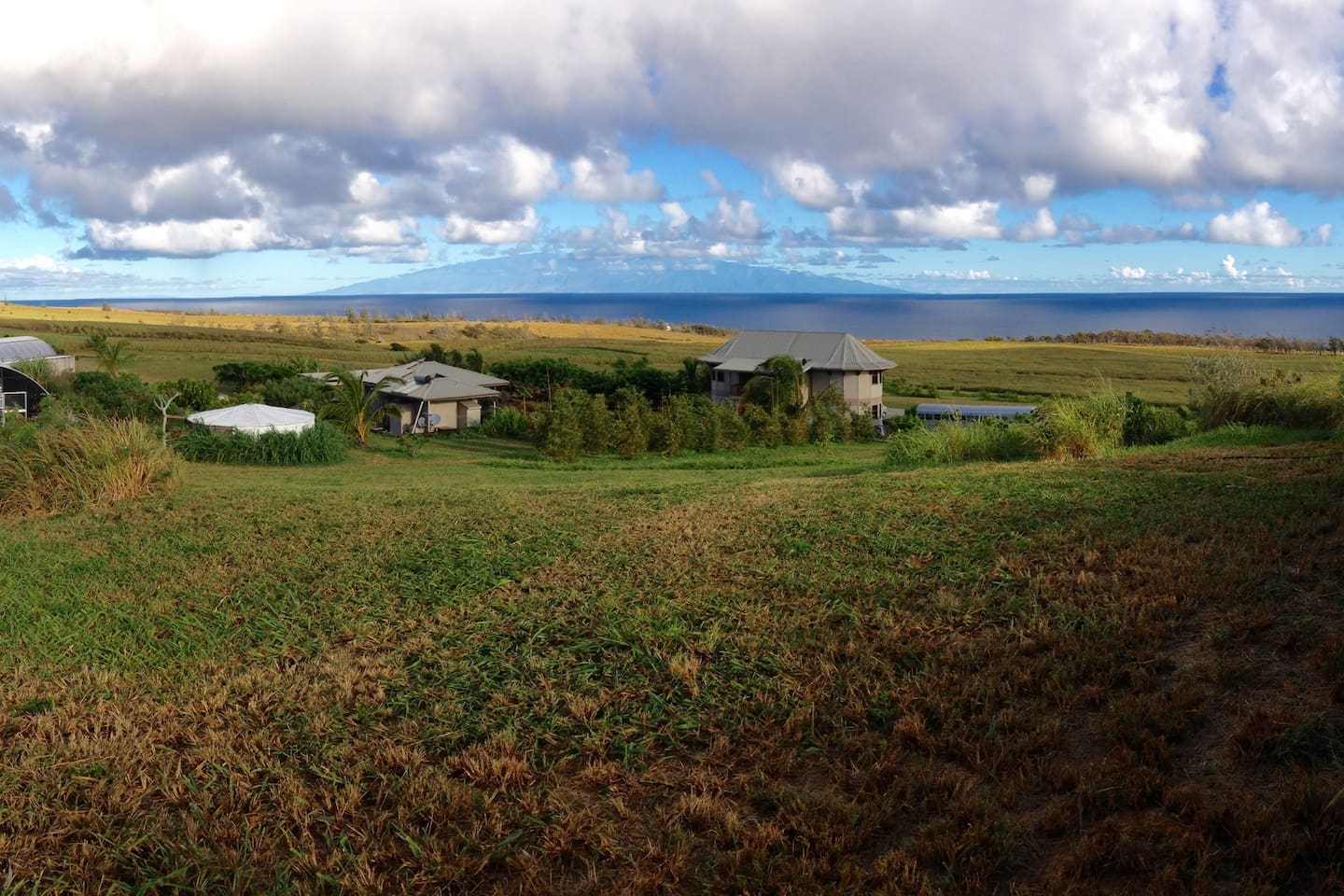 This is an overview of our property with Maui in the distance