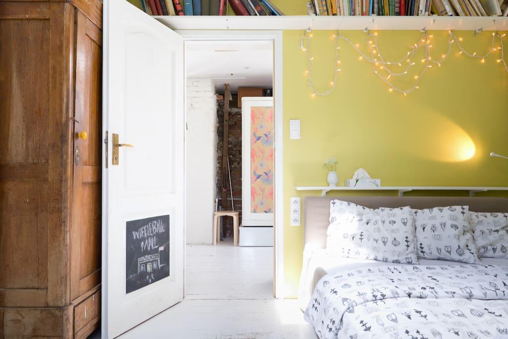 1. yellow Bedroom with double bed