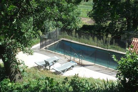 Maison de campagne + piscine privée - Bréau-et-Salagosse - Huis
