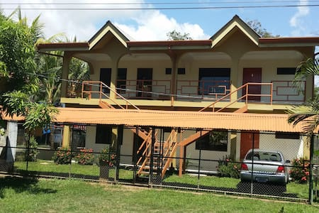 Located right on the main highway #34.  This is a 4-unit apartment complex, 2 upstairs and 2 downstairs.  Each unit is 1 bed/1 bath.  This is a peaceful and quiet complex.  There is a caretaker on-site, he is friendly and always willing to help.