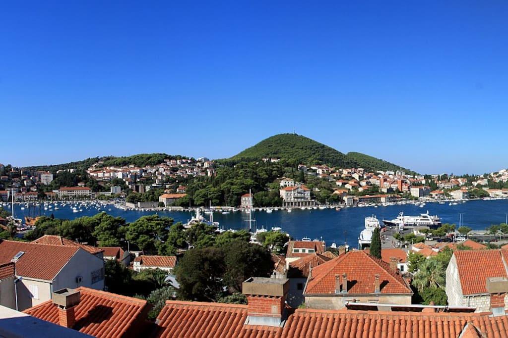 Beautiful balcony view of Gruz bay