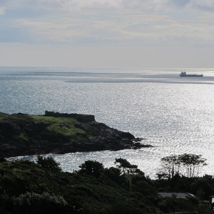 That is the famous Dalkey Island viewed from the sitting room!