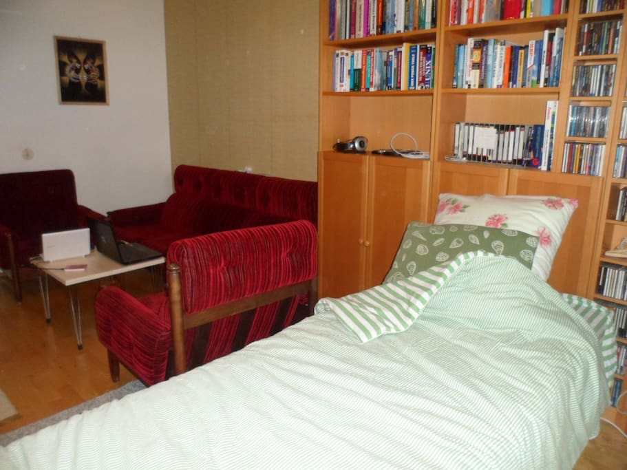 A bed in a nice room in quiet place