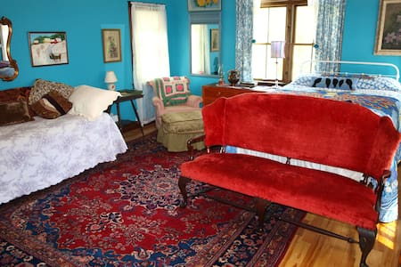 Bright Blue Room,Cathedral Ceilings - West Rutland