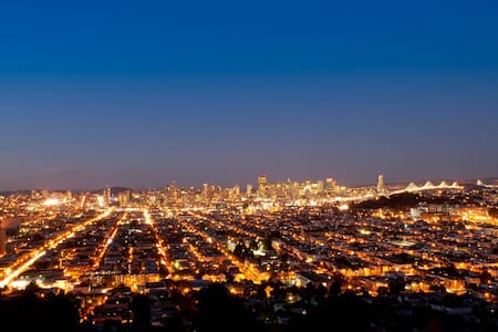Gorgeous View of SF from Hill Top