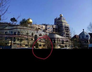 Hundertwasserhaus plus Fahrrad !!! - Apartment