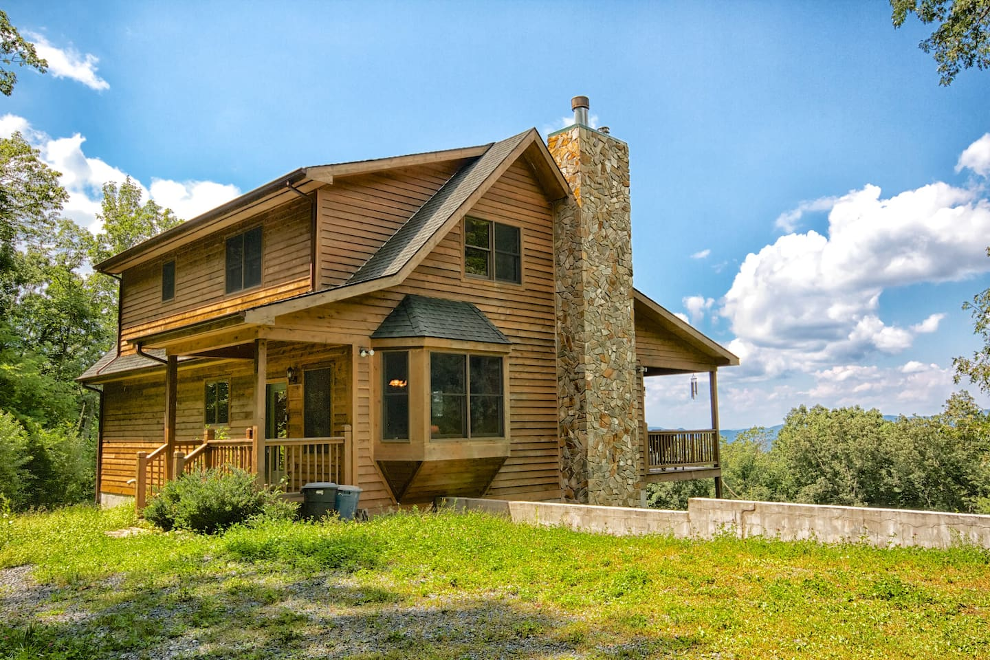 Cabin on acres view linville gorge cabins for rent in for Linville falls cabin rentals