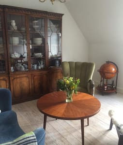 The apartment is a 10 minute walk away from the city center and 5 minutes from the railway station. There are plenty of free parking spaces just outside the front door. The apartment has a nice dining/living room, bedroom, kitchen and bathroom.