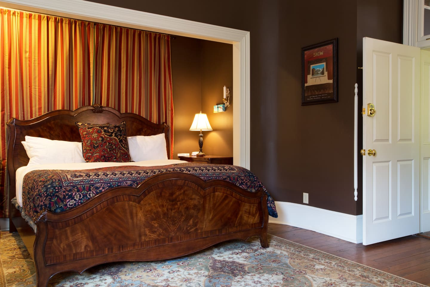 Master suite with comfy king bed