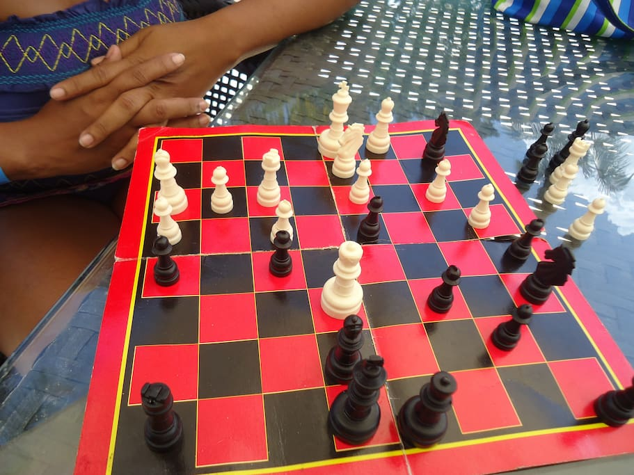 i love playing chess
