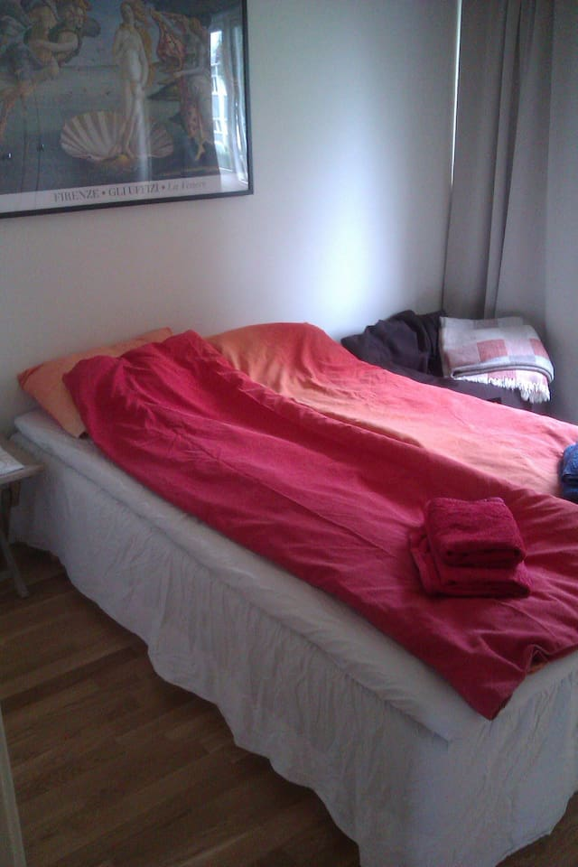 This bedroom is usually rented out for stays 3 nights +. Depending on who is home in our household at the time.