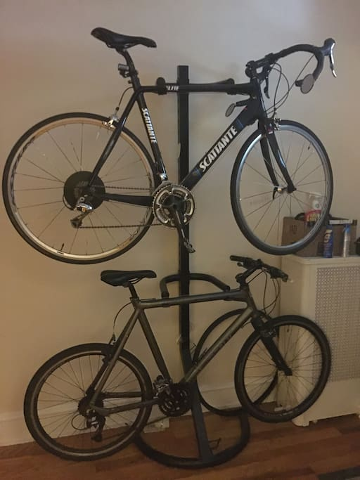 Bike rack is available
